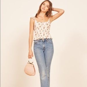 Reformation Aurora Floral Top